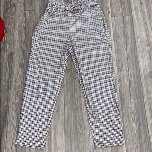 Divided plaid pants